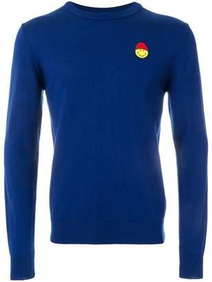 Ami Alexandre Mattiussi Crewneck Sweater Smiley Chest Embroidery