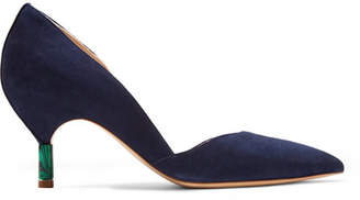 Gabriela Hearst Luzia Suede Pumps - Navy