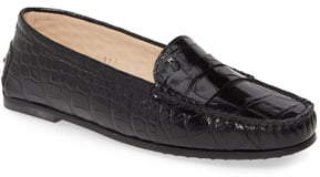 Tod's New City Gommini Croc Embossed Driving Moccasin