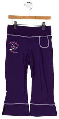 Nike Girls' Embroidered Wide-Leg Pants