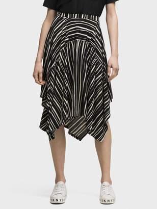 DKNY Printed Drape Skirt