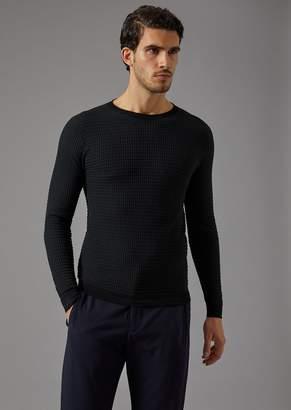 Giorgio Armani Crew-Neck Woven Sweater