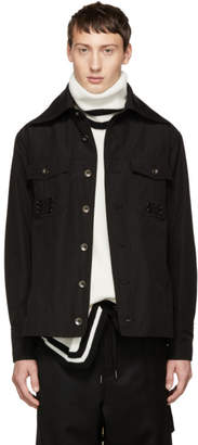 D.gnak By Kang.d Black Pinned Pocket Shirt Jacket