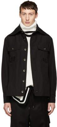 D.gnak By Kang.d Black Pinned Pocket Shirt Jacket