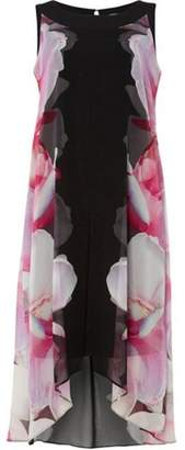 Dorothy Perkins Womens *Roman Originals Pink Chiffon Overlay Dress