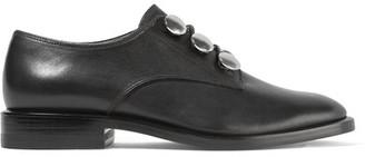 Alexander Wang - Matilda Embellished Leather Brogues - Black $550 thestylecure.com