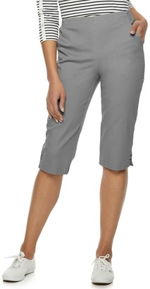 Croft & Barrow Women's Pull on Denim Capris
