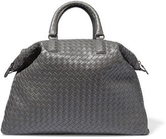 Bottega Veneta - Convertible Medium Intrecciato Leather Tote - Gray $3,100 thestylecure.com