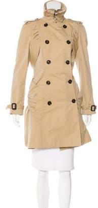 Burberry Stud Embellishment Trench Coat