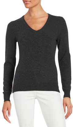 Lord & Taylor V-Neck Cashmere Sweater $160 thestylecure.com
