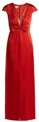 Temperley London Nile Sequin Embellished Satin Gown - Womens - Red
