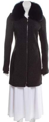 Zac Posen Fur-Trimmed Quilted Coat