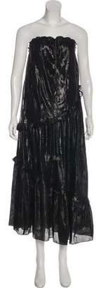 Rachel Zoe Strapless Metallic Dress