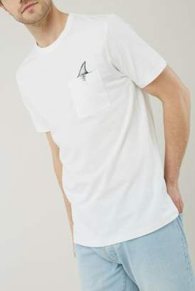 Next Mens White Pocket Graphic T-Shirt