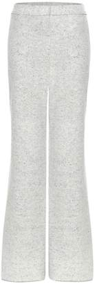 Stella McCartney Virgin wool-blend wide-leg trousers