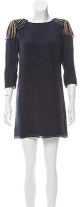 Tibi Silk Embellished Dress
