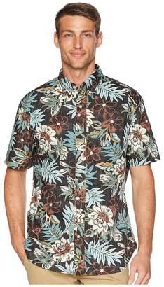 Reyn Spooner Vintage Hawaiian Floral Tailored Aloha Shirt Men's Short Sleeve Button Up