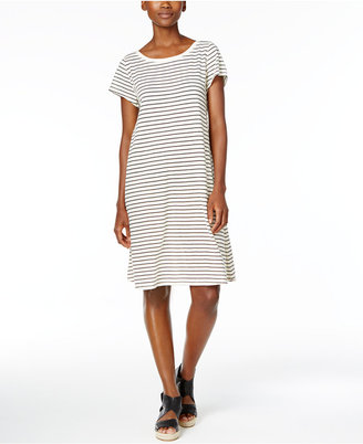 Eileen Fisher Striped Shift Dress $168 thestylecure.com