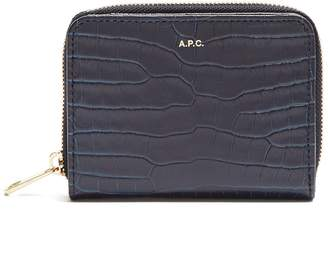 A.P.C. Emmanuelle crocodile-effect leather wallet