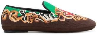 Loewe cross stitch slippers