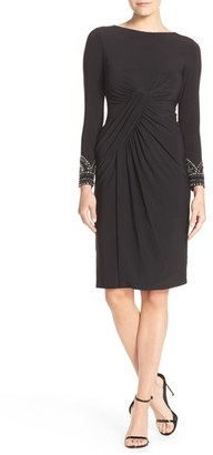 Vince Camuto Embellished Stretch Sheath Dress $188 thestylecure.com