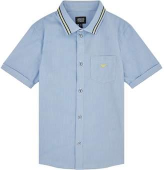 Giorgio Armani StripeTrimShort Sleeve Shirt