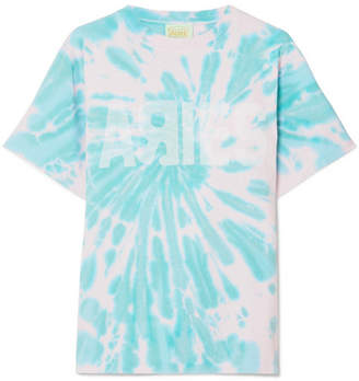 Aries Go Your Own Way Printed Tie-dyed Cotton-jersey T-shirt - Pastel pink