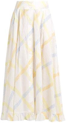 Thierry Colson Romane stripe-print cotton-voile skirt