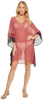 MICHAEL Michael Kors Rope Geo V-Neck Cover-Up Tunic Women's Swimwear