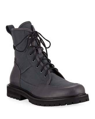 Aquatalia Men's Irus Mesh Boots with Leather Trim