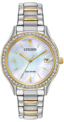 Citizen Eco-Drive Women's Two-Tone Stainless Steel Bracelet Watch 34mm, Created for Macy's
