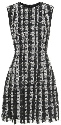 Oscar de la Renta Sequined tweed minidress