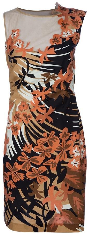 Alberta Ferretti Floral mesh dress