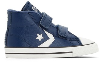 Converse Star Player 2V Leather High Top Trainers, Sizes 18-26