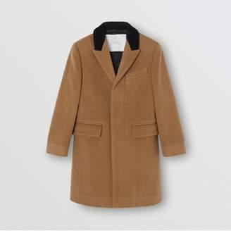 Burberry Childrens Velvet Collar Cashmere Tailored Coat