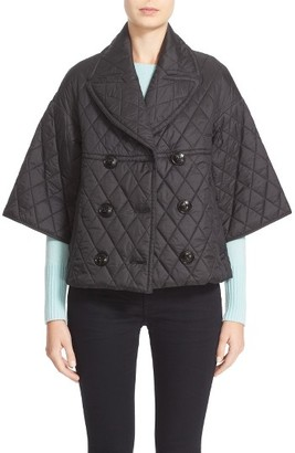 Women's Burberry Greenfall Quilted Double Breasted Jacket $795 thestylecure.com