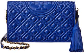Tory Burch Fleming Leather Wallet Crossbody