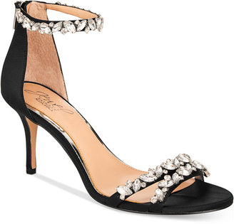 JEWEL By Badgley Mischka Caroline Ankle-Strap Evening Sandals $109 thestylecure.com