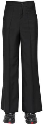 Maison Margiela Loose Fit Wool & Mohair Pants