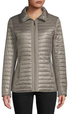 Gallery Quilted Hooded Coat