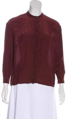 AllSaints Crepe Long Sleeve Blouse