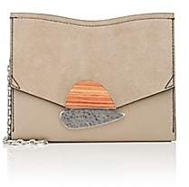 Proenza Schouler Women's Curl Small Leather Clutch - Lt. brown
