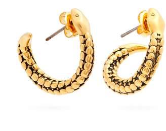 Aurelie Bidermann Snake gold-plated hoop earrings