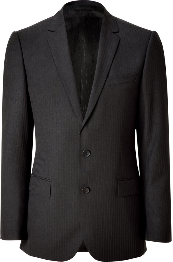 HUGO Black Striped Wool Amaro/Heise Blazer