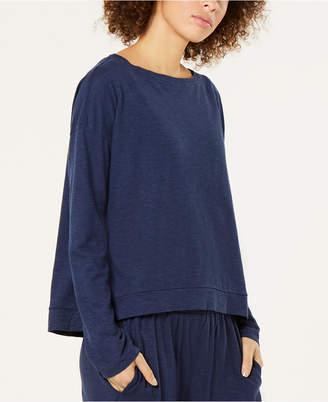 Eileen Fisher Boat-Neck Boxy Knit Top, Regular & Petite