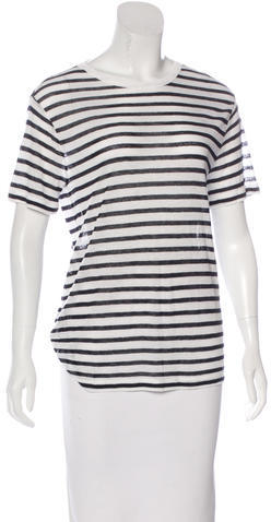 Alexander Wang T by Alexander Wang Striped Short Sleeve Top w/ Tags