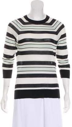 A.L.C. Striped Crew Neck Sweater