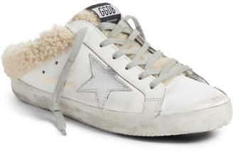Golden Goose Sabot Superstar Genuine Shearling Slide Sneaker
