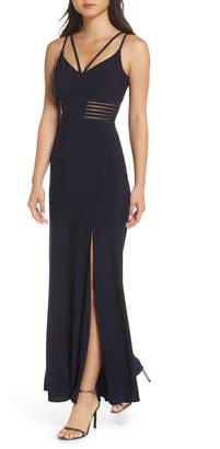 Morgan & Co. Long Ity Spaghetti Strap Gown