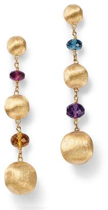 Marco Bicego 18K Yellow Gold Africa Color Multi Gemstone Bead Drop Earrings - 100% Exclusive